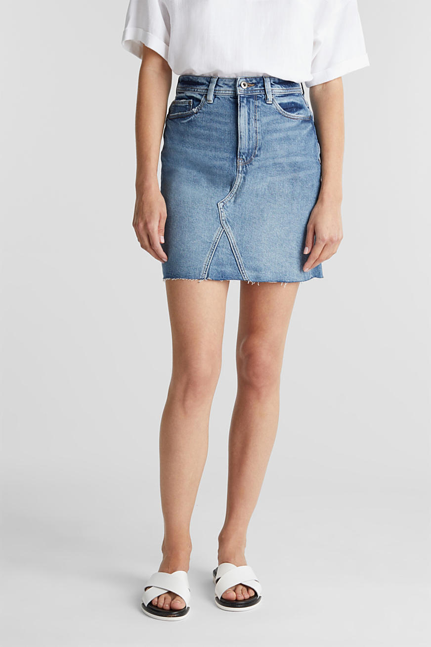 Denim rok met organic cotton
