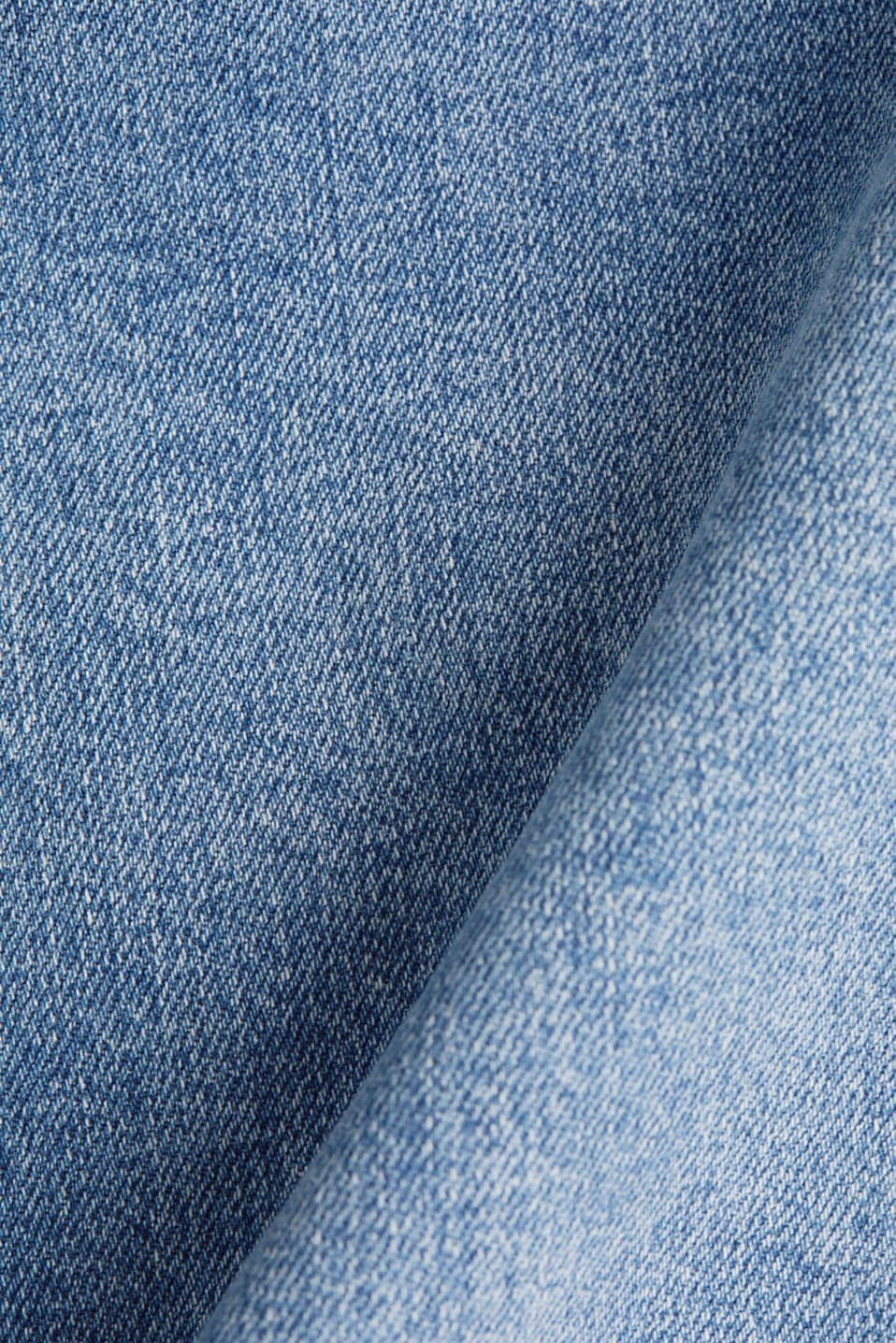 Denim skirt with organic cotton, BLUE MEDIUM WASH, detail image number 4
