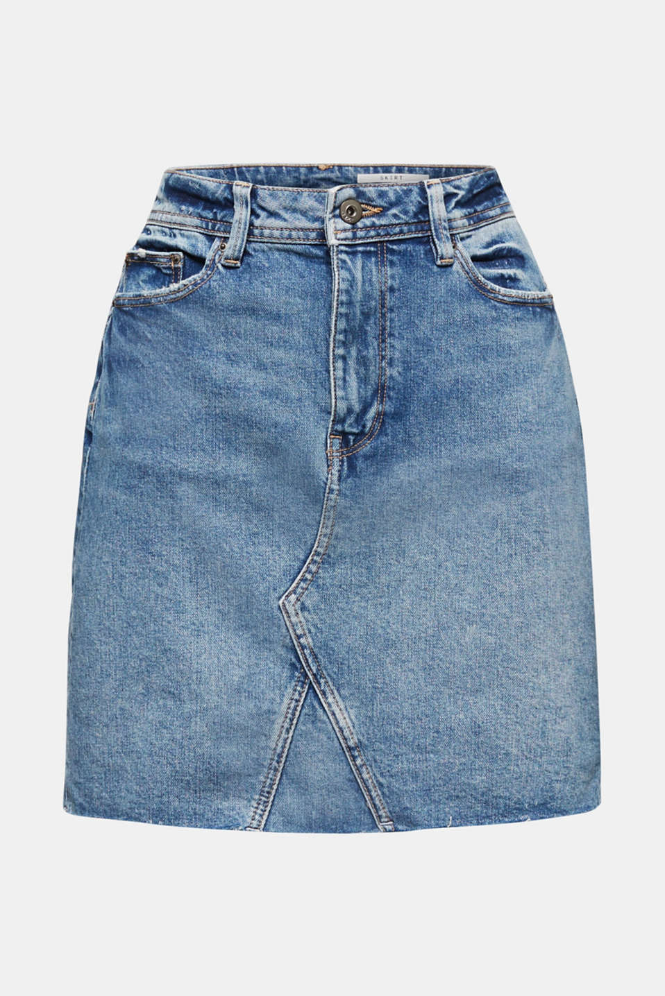Denim skirt with organic cotton, BLUE MEDIUM WASH, detail image number 5