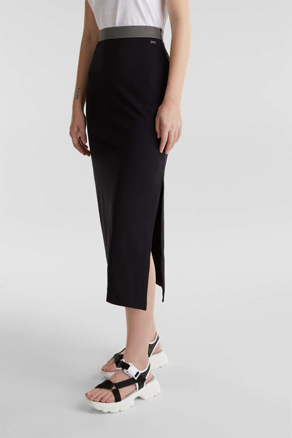 edc - Midi skirt in stretch jersey