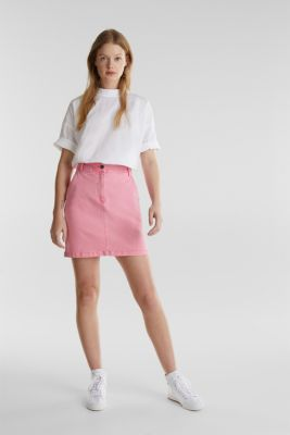Stretch denim skirt, PINK, detail