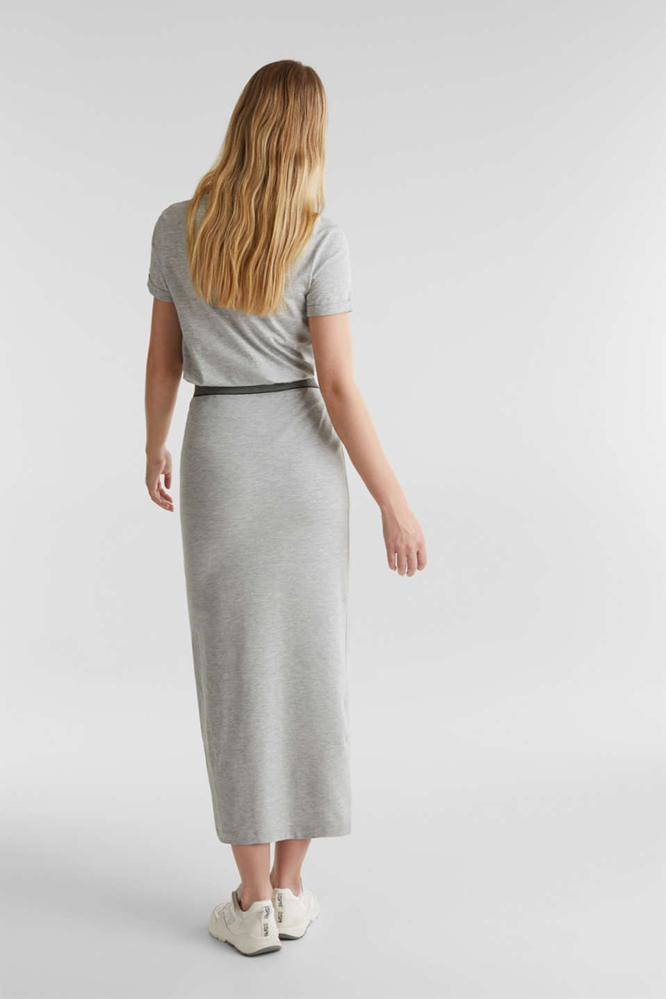 Stretch jersey skirt with organic cotton, LIGHT GREY 5, detail image number 3