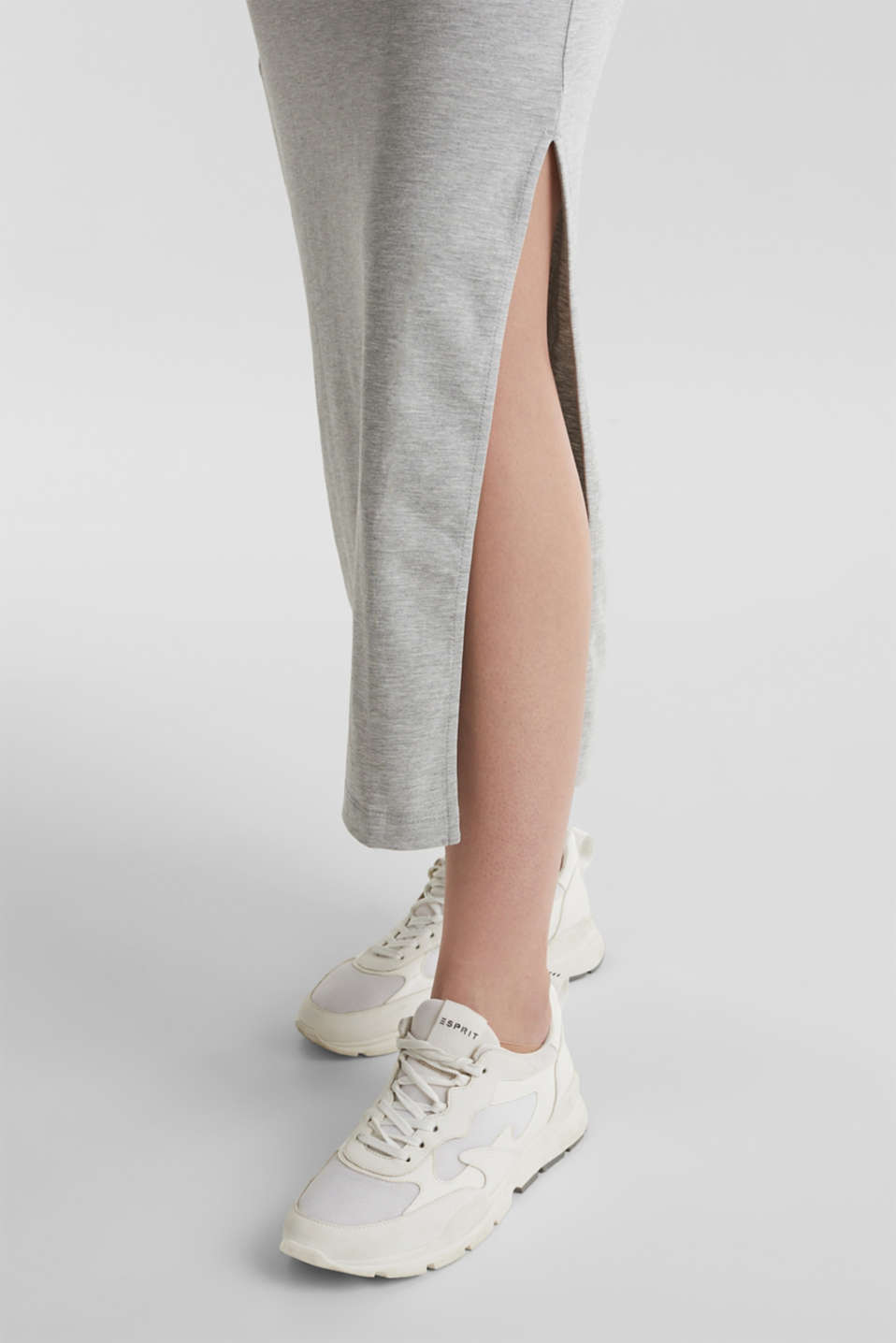 Stretch jersey skirt with organic cotton, LIGHT GREY 5, detail image number 2
