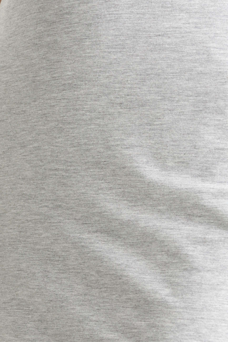 Stretch jersey skirt with organic cotton, LIGHT GREY 5, detail image number 4