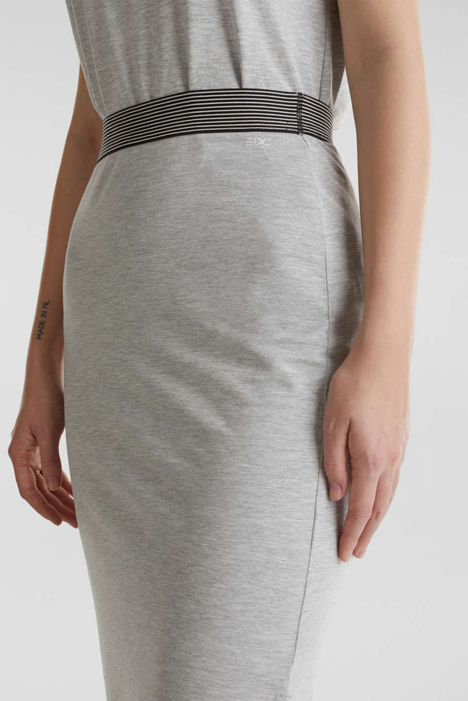 Stretch jersey skirt, LIGHT GREY 5, detail image number 5