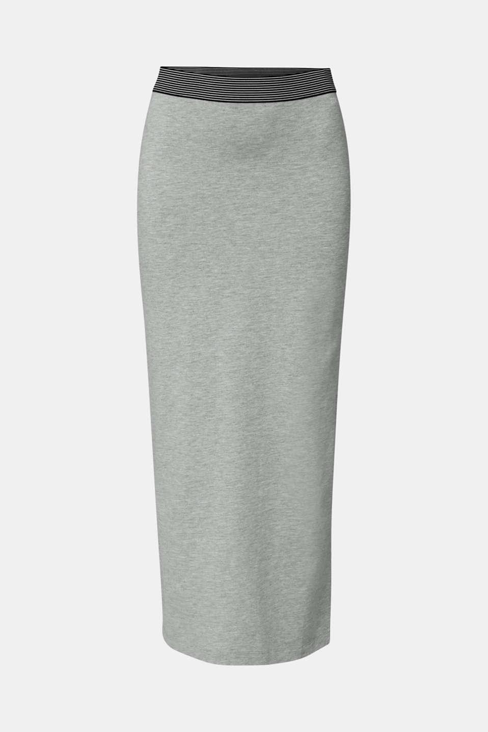 Stretch jersey skirt, LIGHT GREY 5, detail image number 6