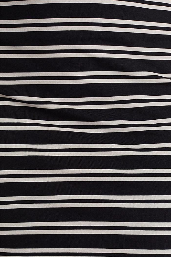 Jersey skirt with slits, BLACK, detail image number 4