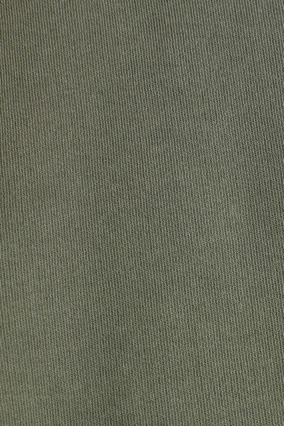 Sweatshirt dress made of 100% cotton, KHAKI GREEN, detail image number 3