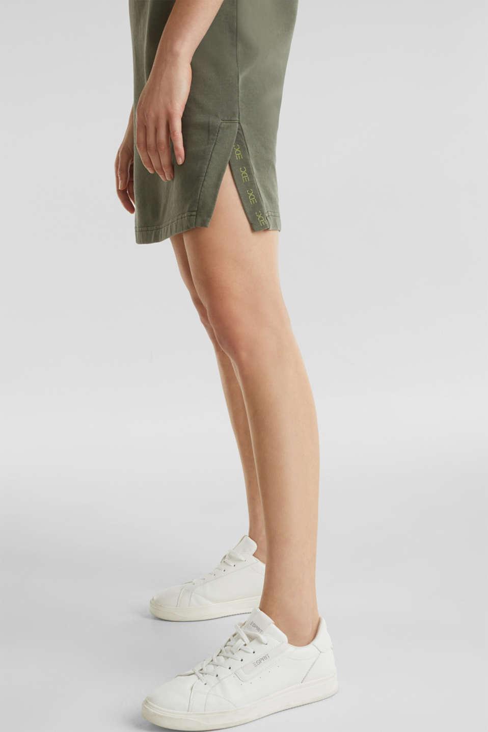 Sweatshirt dress made of 100% cotton, KHAKI GREEN, detail image number 4