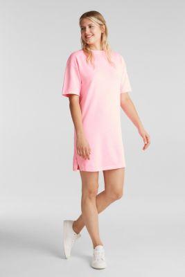 Sweatshirt dress made of 100% cotton, PINK, detail