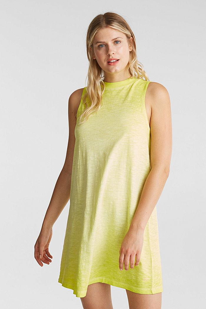 Baumwoll-Jersey-Kleid, CITRUS GREEN, detail image number 0