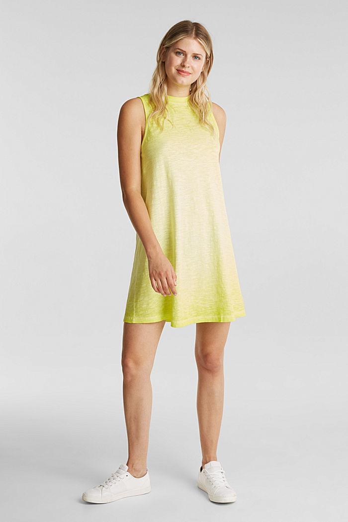 Baumwoll-Jersey-Kleid, CITRUS GREEN, detail image number 1