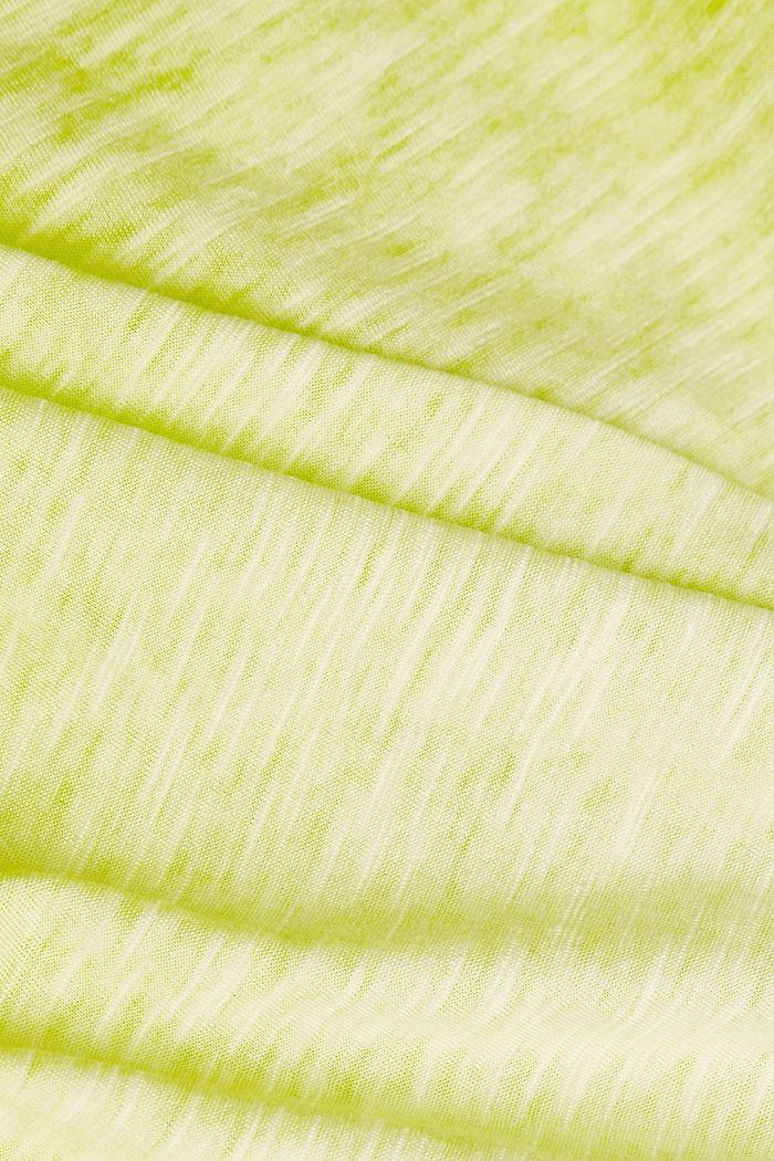 Baumwoll-Jersey-Kleid, CITRUS GREEN, detail image number 4