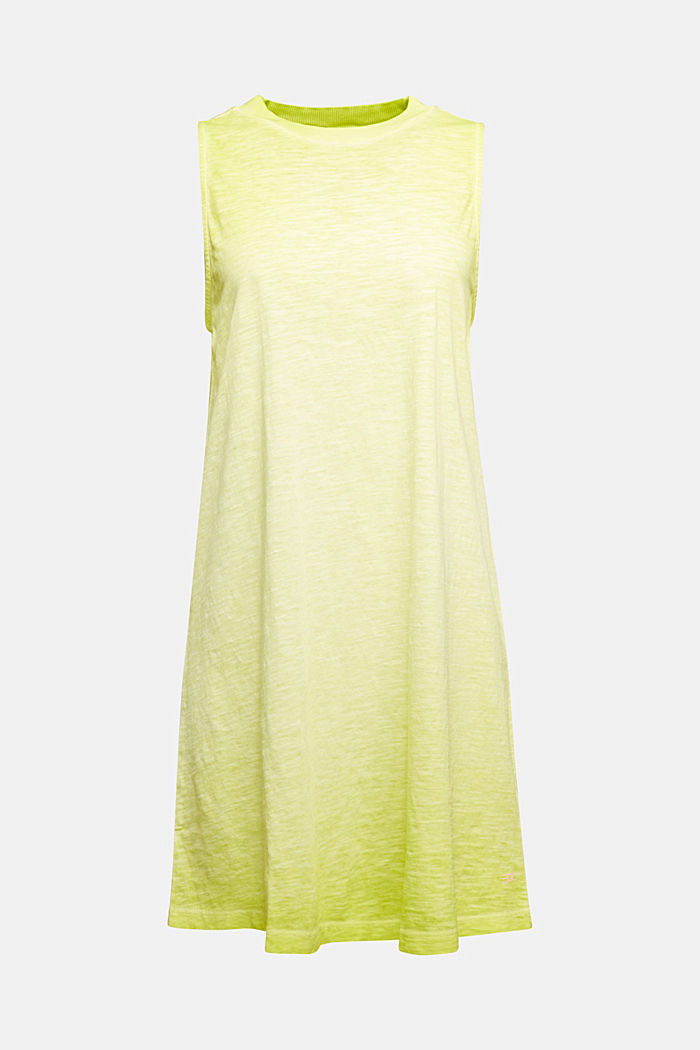 Baumwoll-Jersey-Kleid, CITRUS GREEN, detail image number 5
