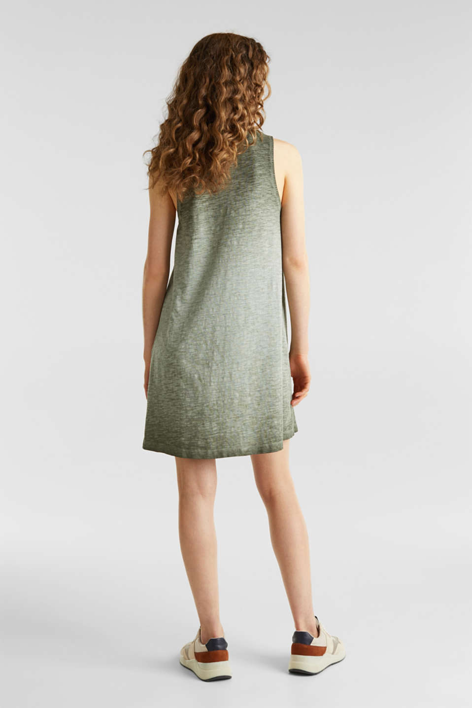 Cotton jersey dress, KHAKI GREEN, detail image number 2