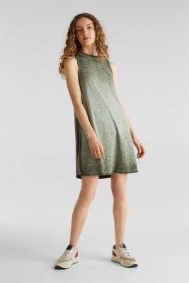 Cotton jersey dress, KHAKI GREEN, detail
