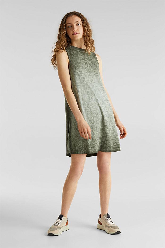 Cotton jersey dress, KHAKI GREEN, detail image number 1