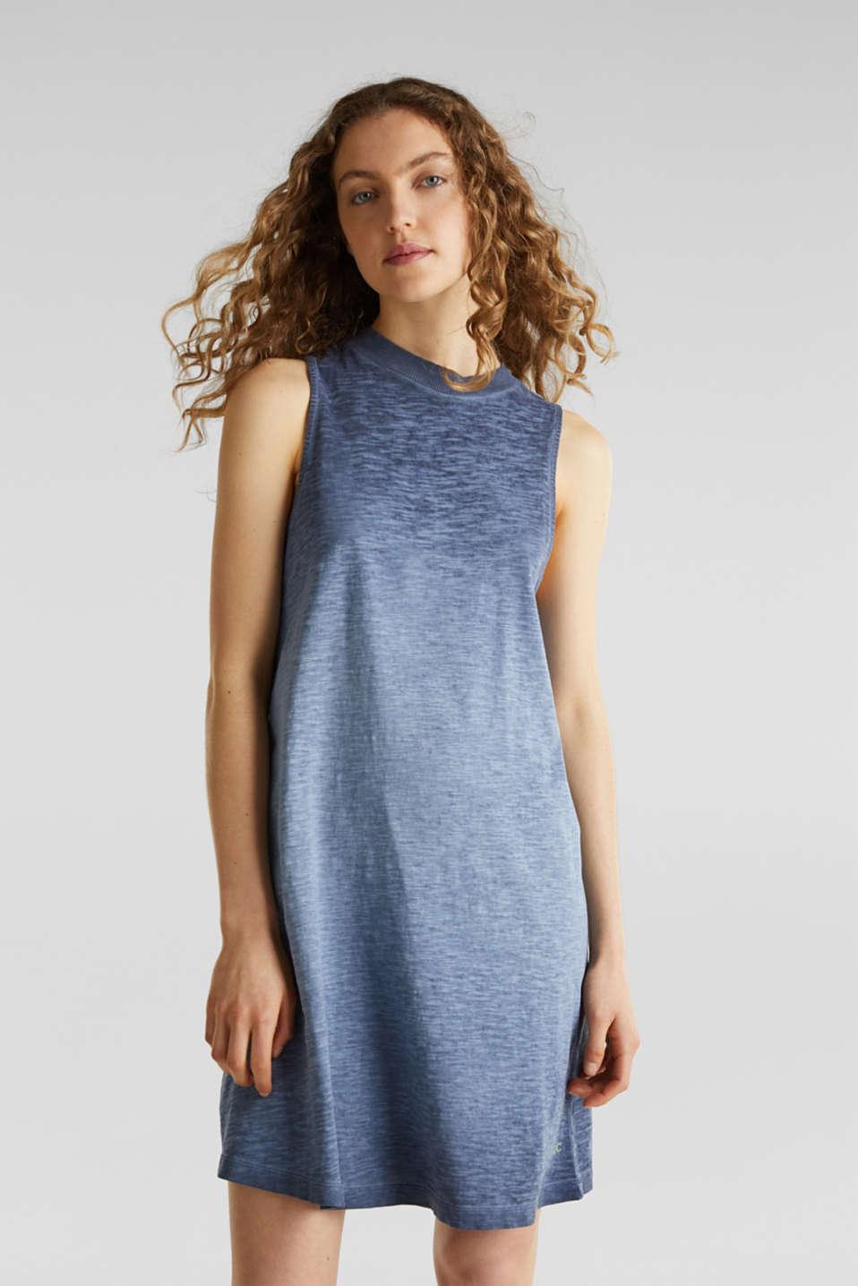 Cotton jersey dress, NAVY, detail image number 0
