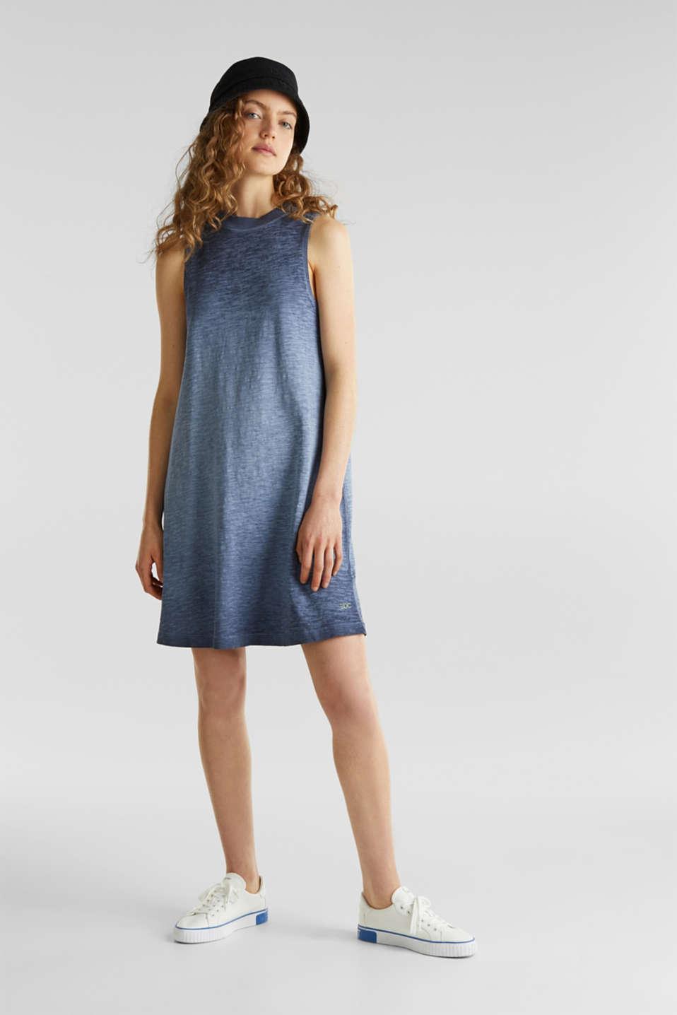 Cotton jersey dress, NAVY, detail image number 1