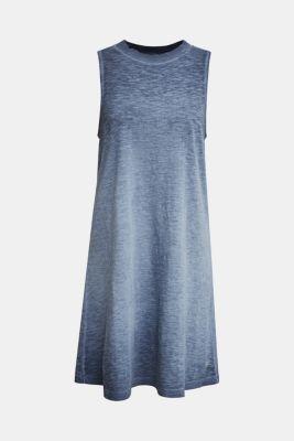 Cotton jersey dress, NAVY, detail