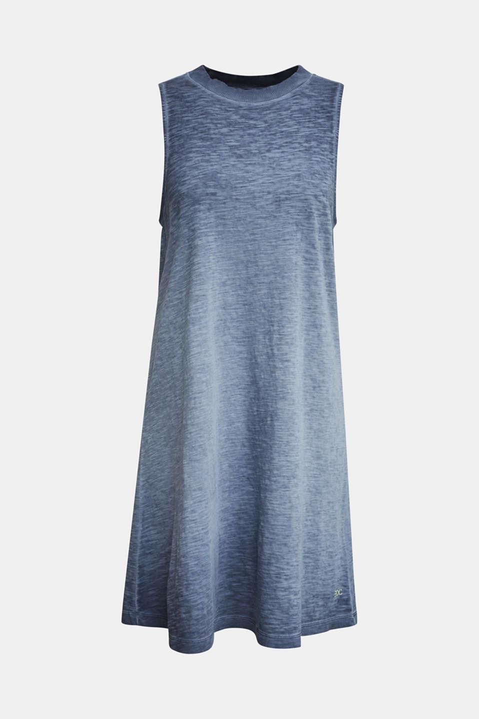 Cotton jersey dress, NAVY, detail image number 4