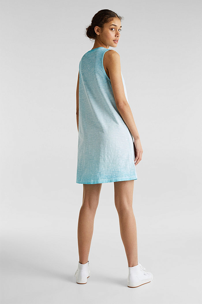 Baumwoll-Jersey-Kleid, TURQUOISE, detail image number 2