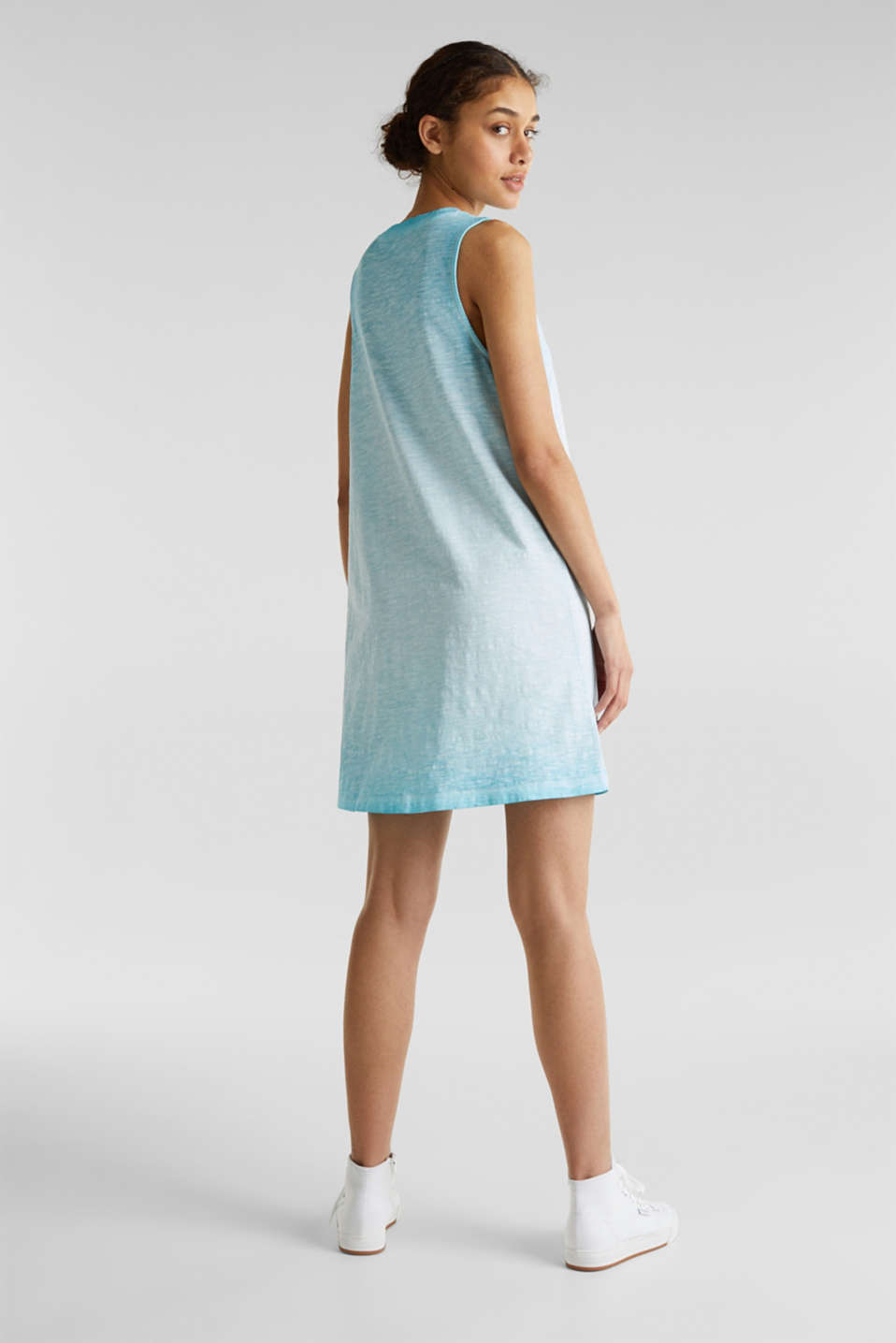 Cotton jersey dress, TURQUOISE, detail image number 2