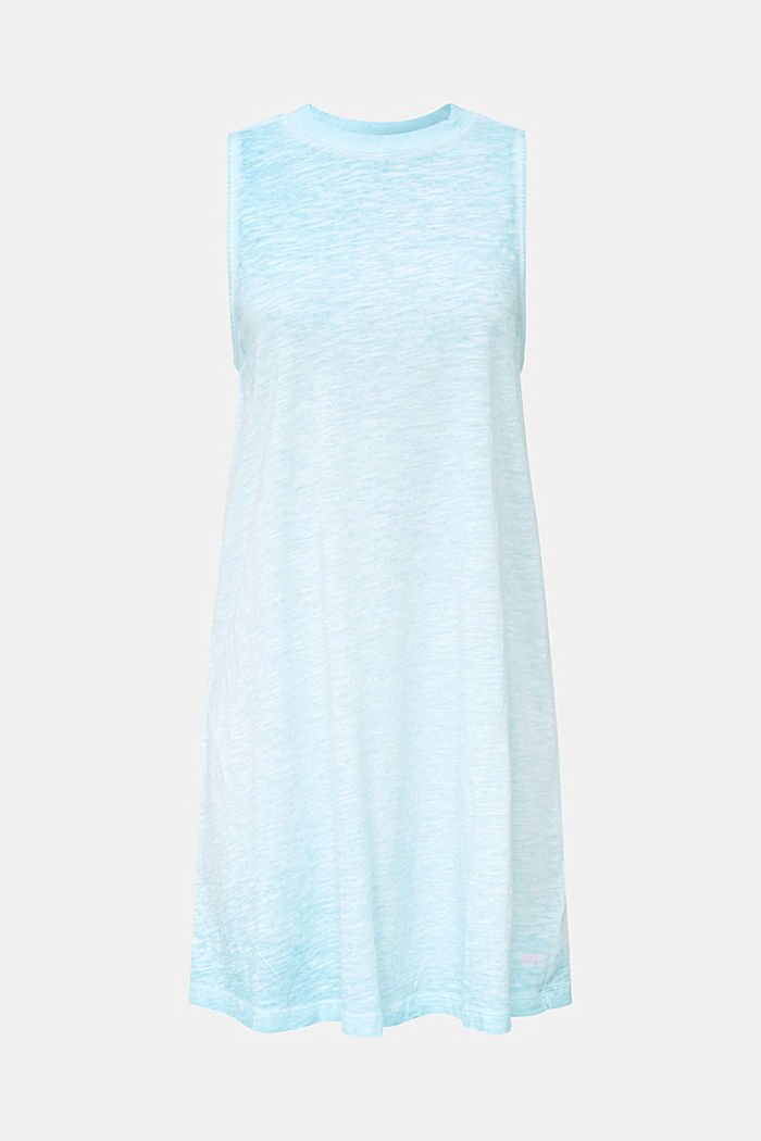 Cotton jersey dress, TURQUOISE, detail image number 4