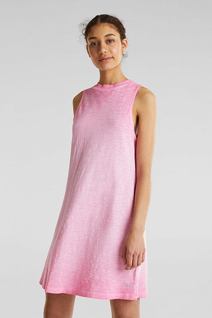 Baumwoll-Jersey-Kleid, PINK FUCHSIA, detail image number 0