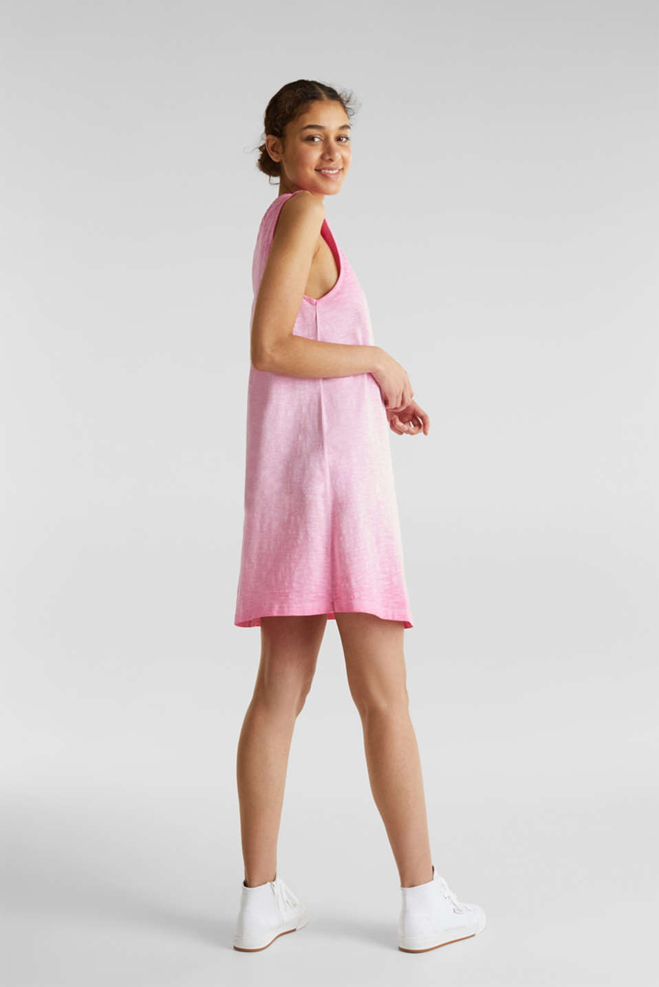 Cotton jersey dress, PINK FUCHSIA, detail image number 2