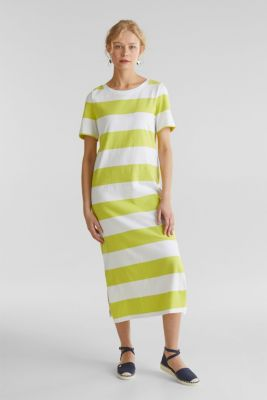 Jersey dress, 100% cotton, CITRUS GREEN, detail