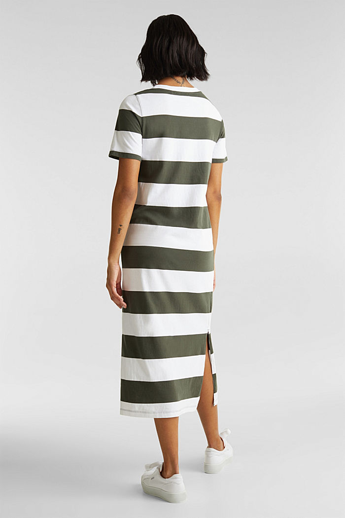 Jersey dress, 100% cotton, KHAKI GREEN, detail image number 2