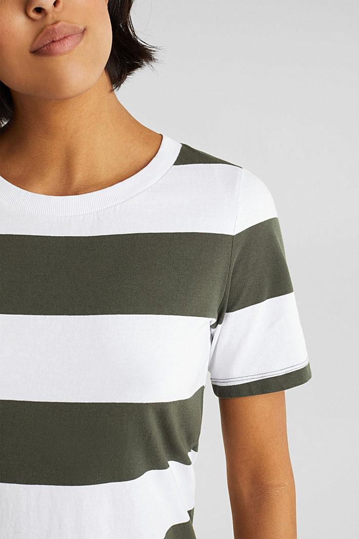 Jersey dress, 100% cotton, KHAKI GREEN, detail image number 3