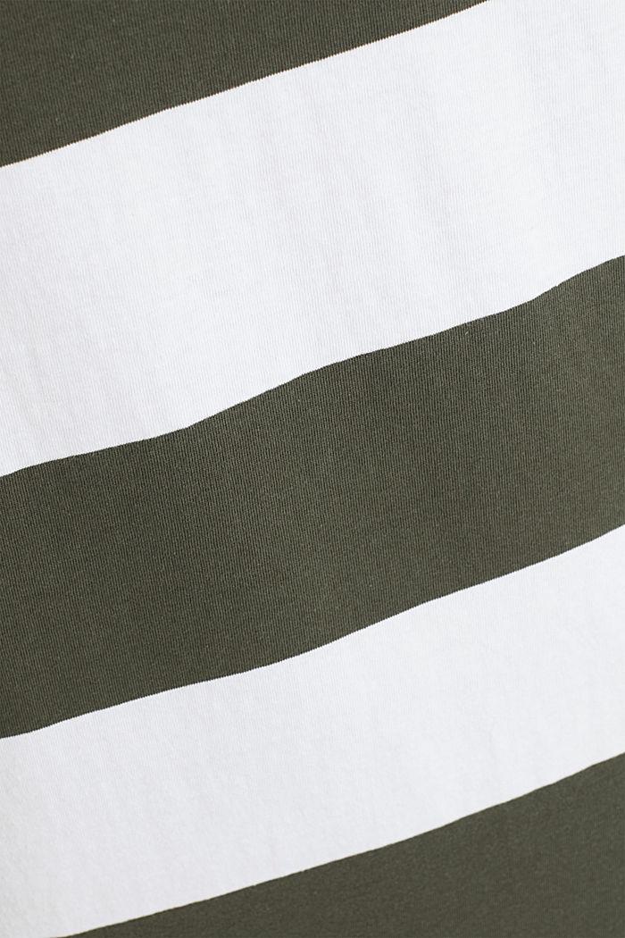 Jersey dress, 100% cotton, KHAKI GREEN, detail image number 4