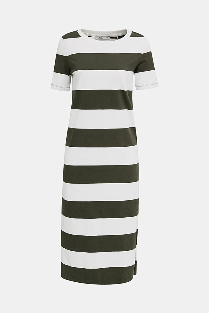 Jersey dress, 100% cotton, KHAKI GREEN, detail image number 6