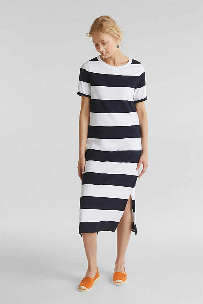 Jersey dress, 100% cotton, NAVY, detail image number 0
