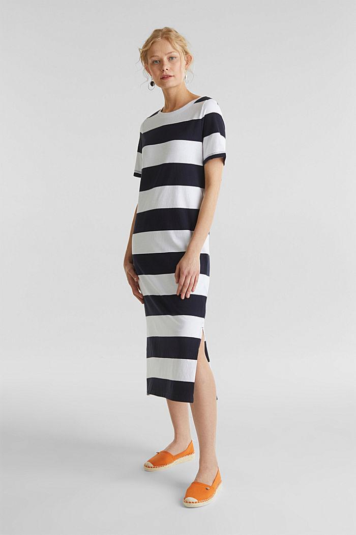 Jersey-Kleid, 100% Baumwolle, NAVY, detail image number 1