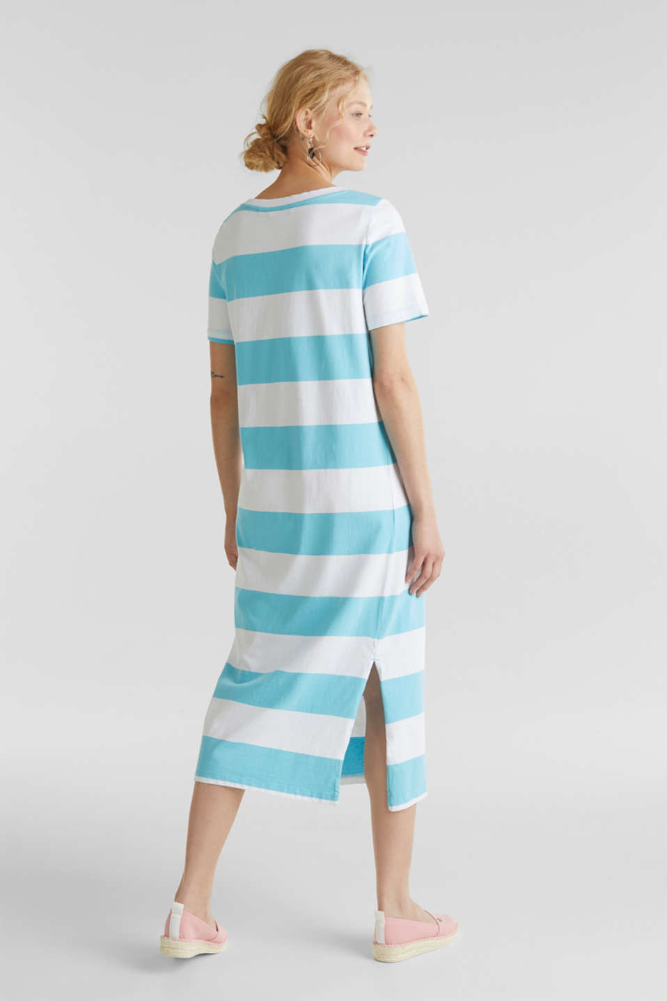 Jersey dress, 100% cotton, TURQUOISE, detail image number 1