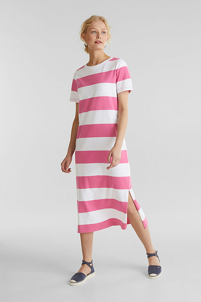 Jersey dress, 100% cotton, PINK FUCHSIA, detail image number 0