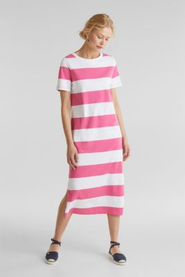 Jersey dress, 100% cotton, PINK FUCHSIA, detail