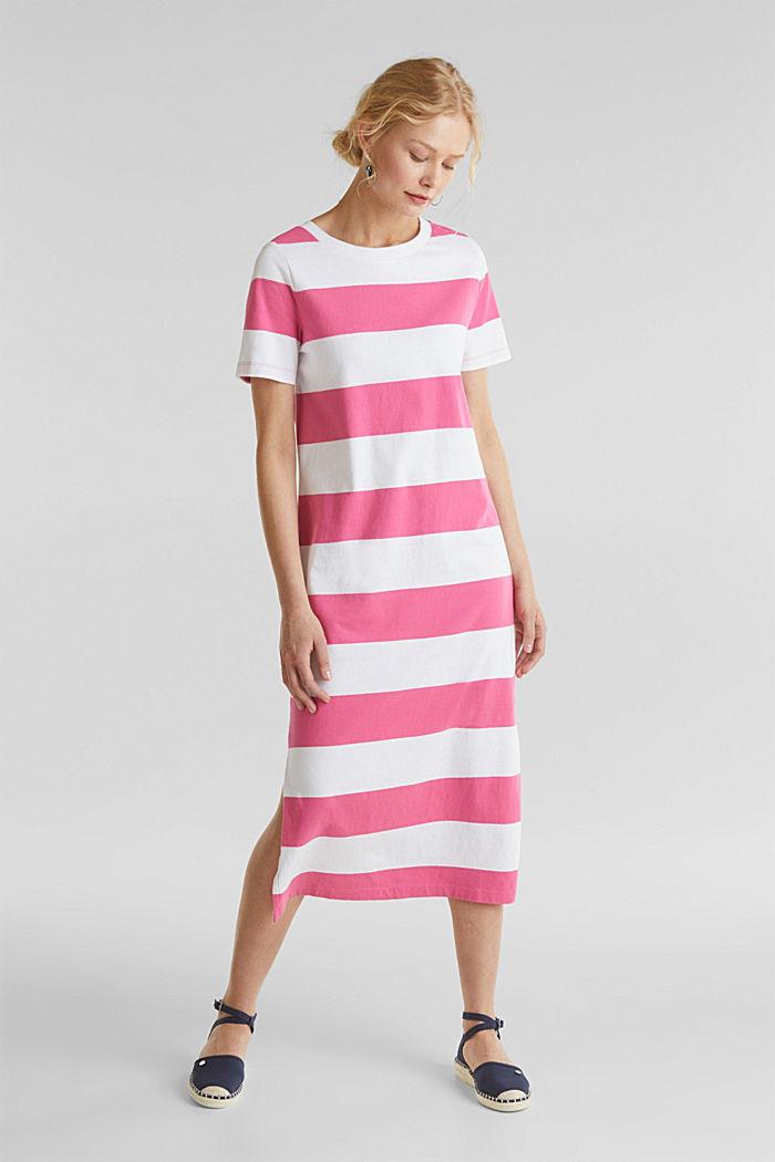 Jersey dress, 100% cotton, PINK FUCHSIA, detail image number 1