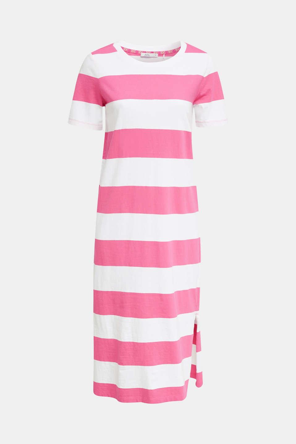 Jersey dress, 100% cotton, PINK FUCHSIA, detail image number 5