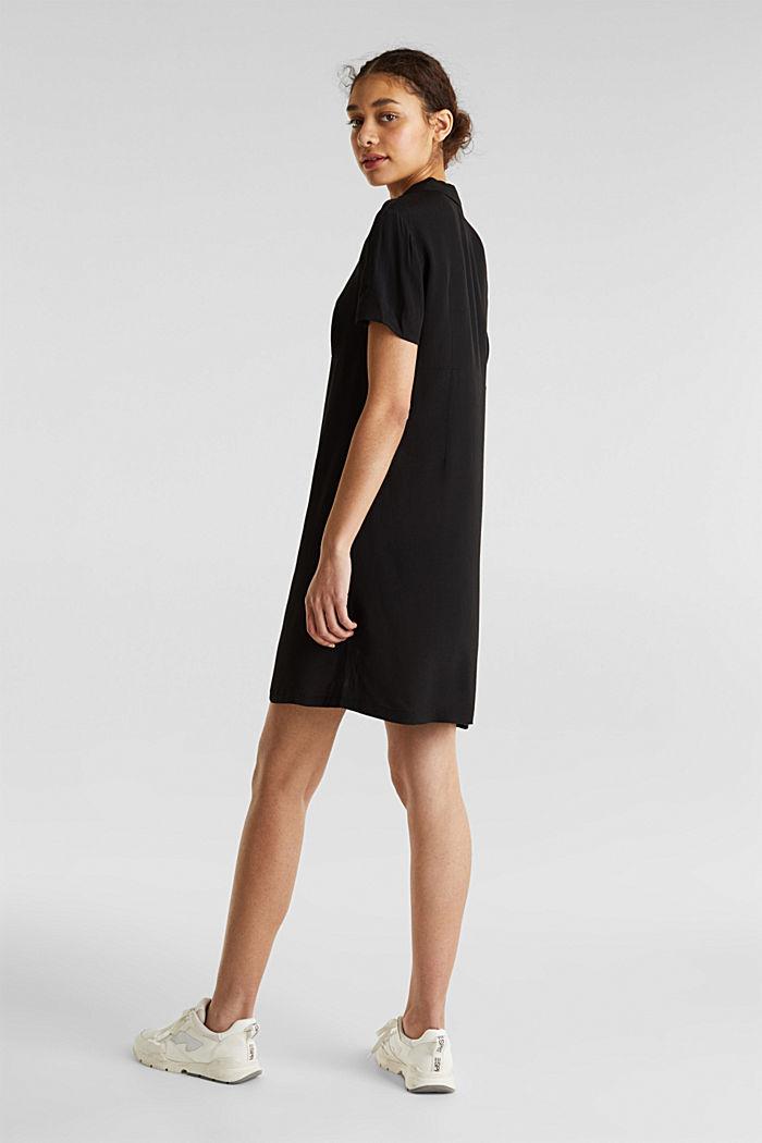 Dress made of LENZING™ ECOVERO™, BLACK, detail image number 2