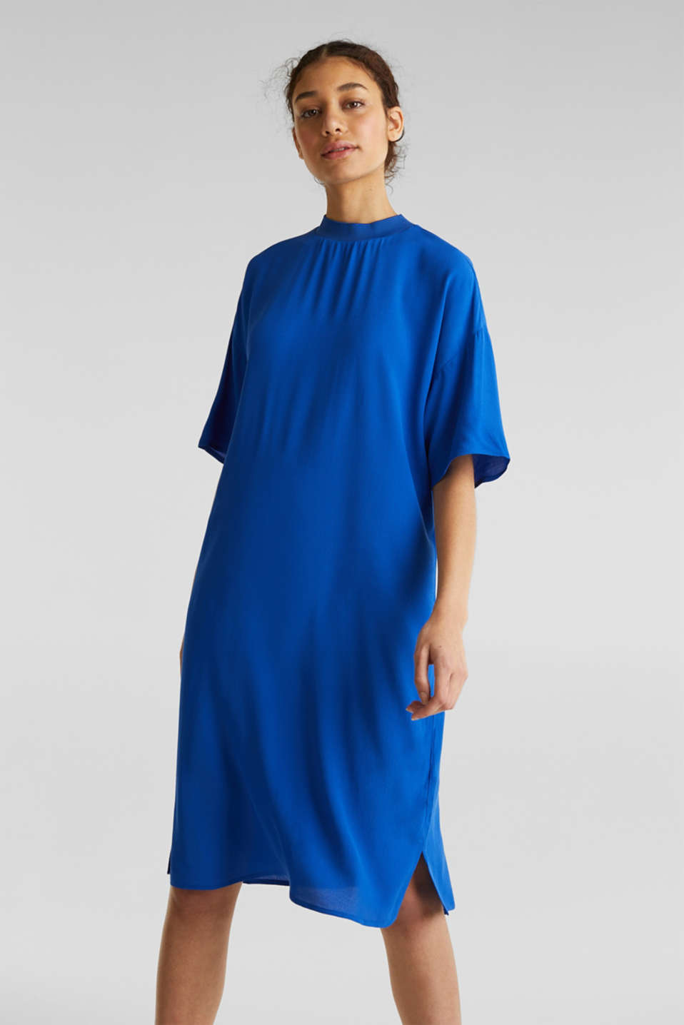 Dress with LENZING™ ECOVERO, BRIGHT BLUE, detail image number 0
