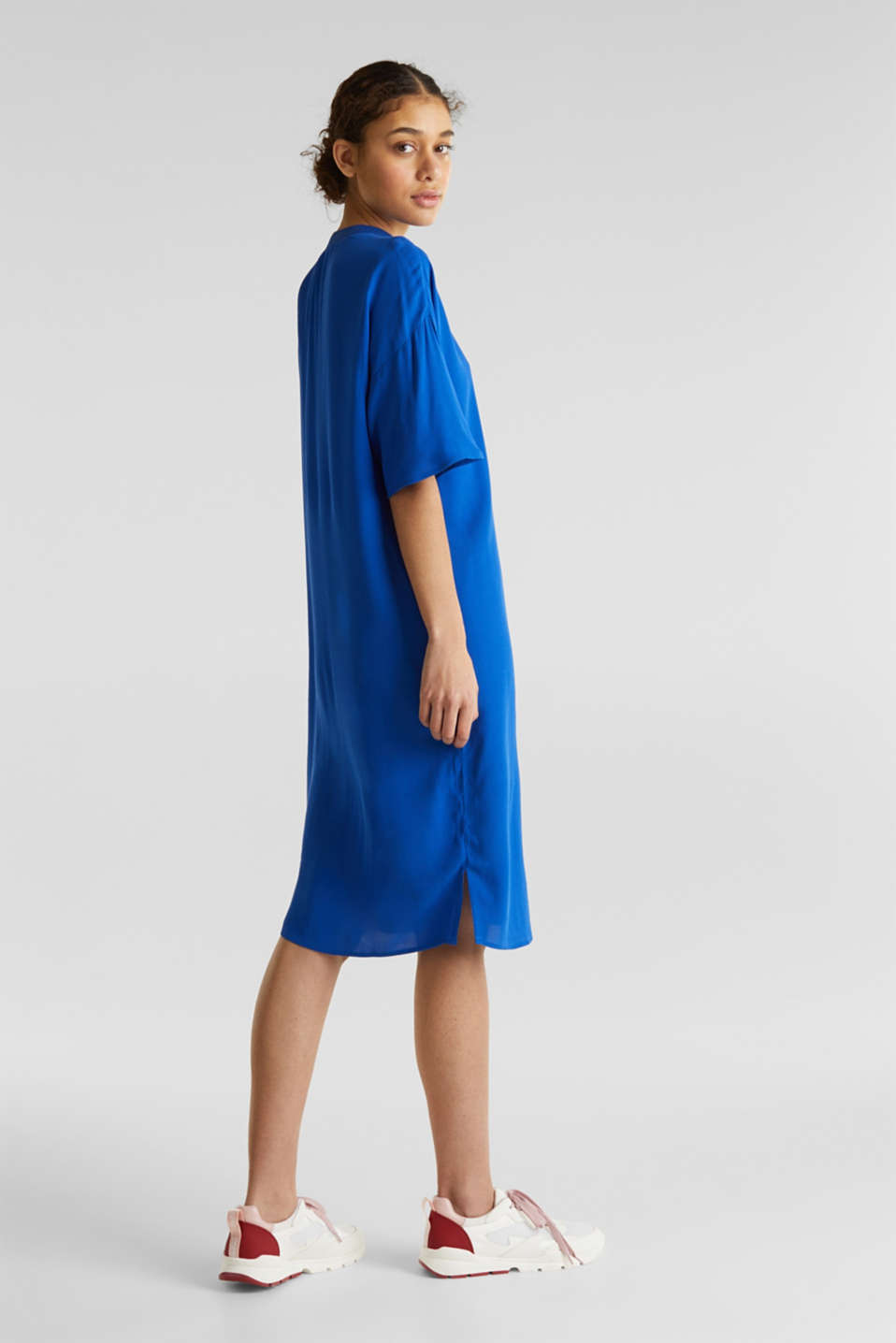 Dress with LENZING™ ECOVERO, BRIGHT BLUE, detail image number 2