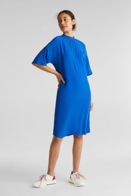 Dress with LENZING™ ECOVERO, BRIGHT BLUE, detail