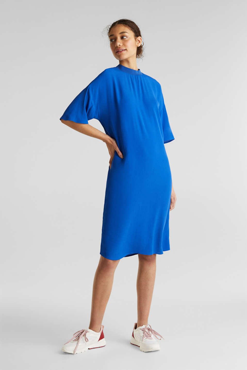 Dress with LENZING™ ECOVERO, BRIGHT BLUE, detail image number 1