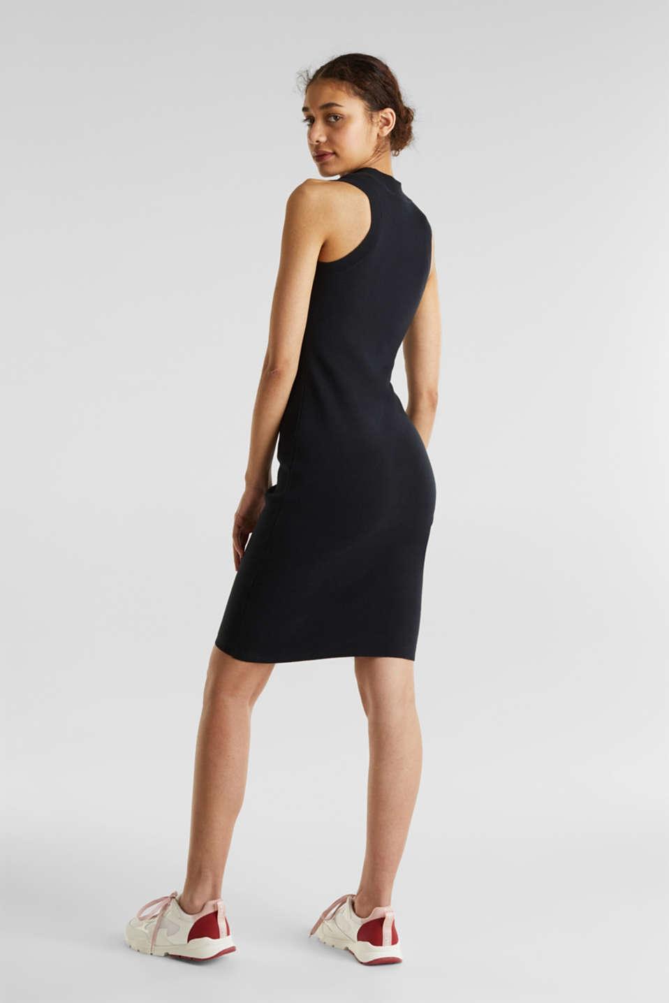 Ribbed knit dress, BLACK, detail image number 2