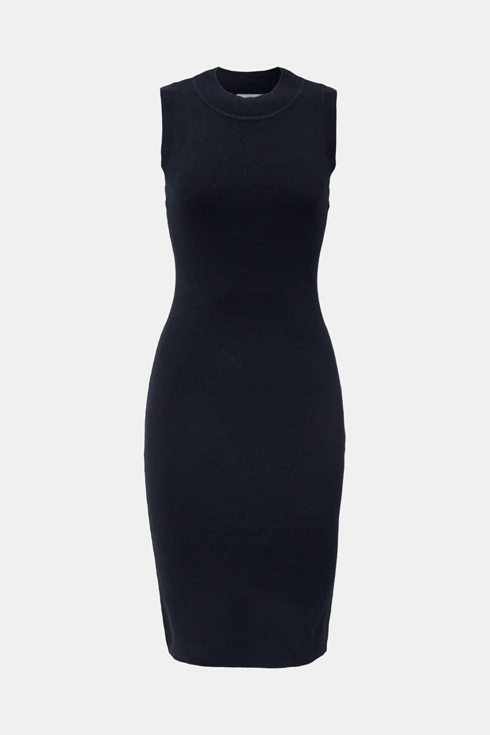 Ribbed knit dress, BLACK, detail image number 4