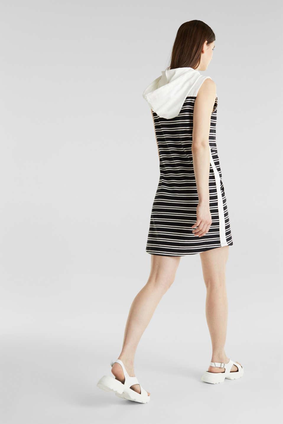 Hoodie sweatshirt dress, 100% cotton, BLACK, detail image number 2